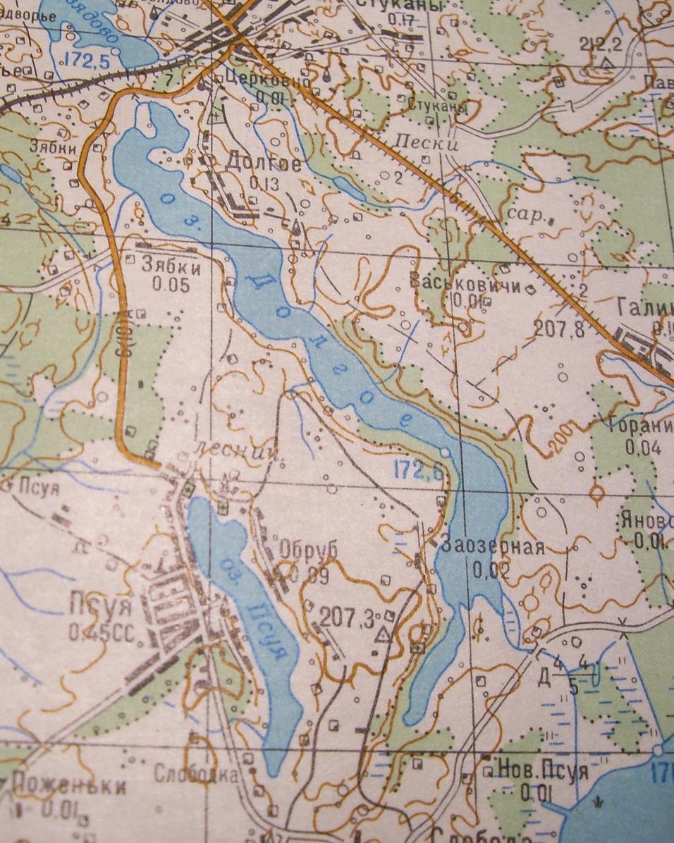 План озера долгое