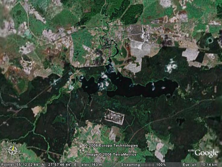 Деревня плисса и озеро плисса в